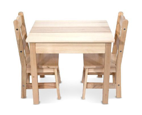 Melissa & Doug Wooden Table and 2 Chairs Set  #MelissaDoug
