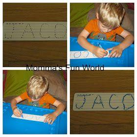 Momma's Fun World: Teaching your child to write their name