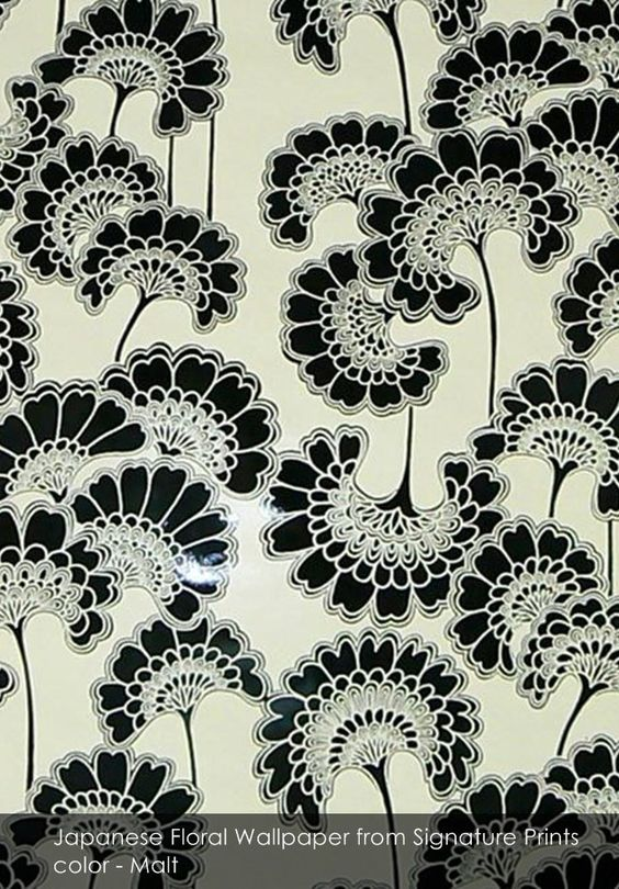 Japanese Floral wallpaper from Signature Prints in Malt
