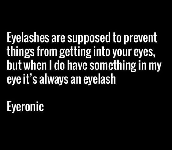 Eyelashes are King of the Body Trolls