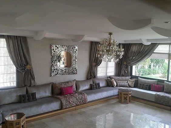 interieur maison marocaine moderne. Black Bedroom Furniture Sets. Home Design Ideas