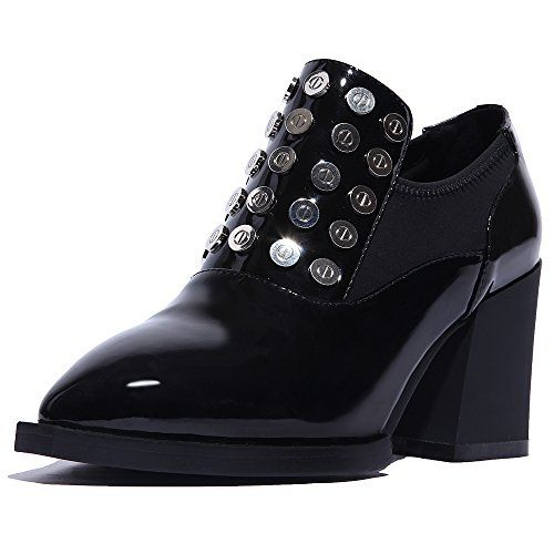 MINIVOG High Heel Studded Women Pumps Shoes Black