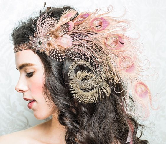 pink feather headpiece :):