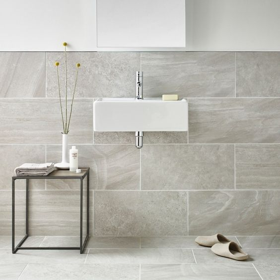 Inverno Grey Marble Rectified Wall And Floor Tile Grey
