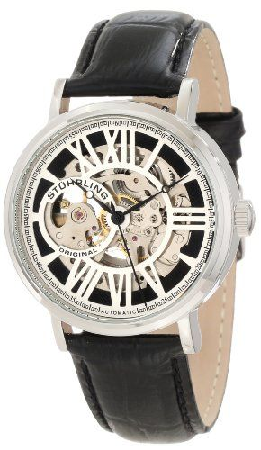 Stuhrling Original Men's 168S.33151 Classic Automatic Skeleton Round Silvertone Watch Set - Find Me The Cheapest Price: $99.00