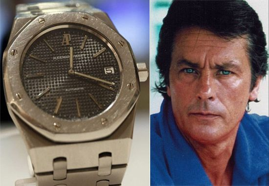 """Audemars Piguet """"Royal Oak"""" worn by French film actor Alain Delon sold for a record price"""