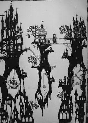 castles inspired by jan pienkowski.