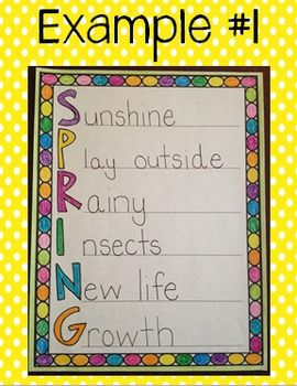 Acrostic Poem Examples For Spring spring acrostic poem template {free ...