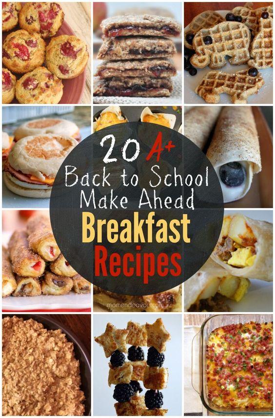 アヘッド朝食レシピを作る - 完璧を多忙のため、学校に戻っ朝に!