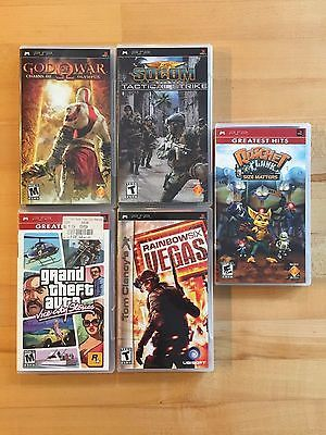 Sony Playstation PSP GAMES LOT - 5 GAME BUNDLE! - USED https://t.co/C9orVjCdeP https://t.co/VCmlxtpQoK