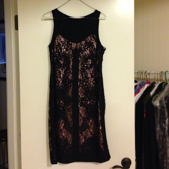 Absolutely Stunning Black Lace/Brocade Dress Photos do not do this dress justice. Very intricate pattern. Never worn. Kroshetta Dresses