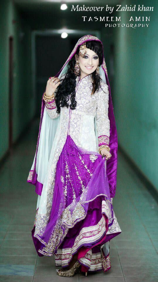 Pakistani bridal dresses in plum color discount wedding for Cheap pakistani wedding dresses