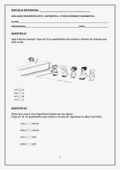 """"""" Cantinho do Educador Infantil """": AVALIAÇÃO DIAGNÓSTICA 2º ANO PORTUGUÊS E MATEMÁTICA"""