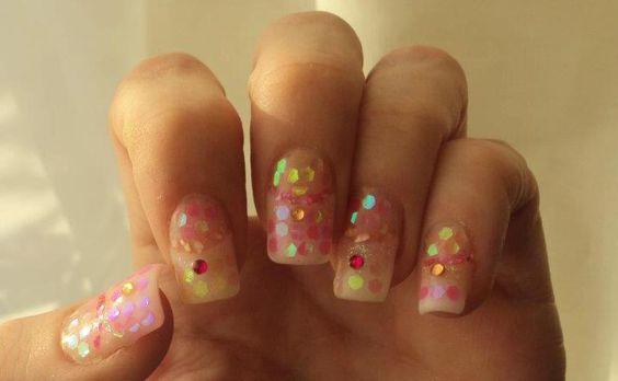 sparkling mani