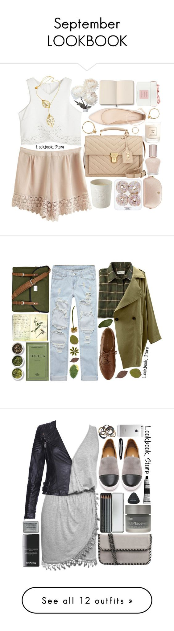 """September LOOKBOOK"" by strayalley ❤ liked on Polyvore featuring Eight & Bob, Yves Saint Laurent, Diptyque, Iosselliani, Moleskine, Zara, True Grace, Tory Burch, Paul & Joe and Tea Collection"