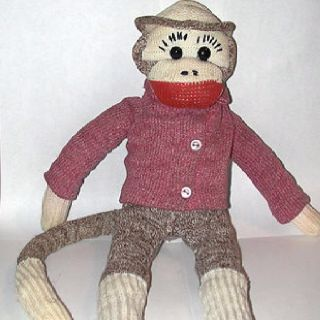 A semi-clothed vintage sock monkey#Repin By:Pinterest++ for iPad#