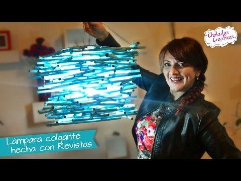 Lampara Colgante de Revistas :: Chuladas Creativas - YouTube