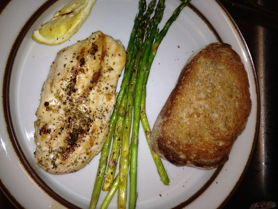 Grilled chicken with Greek oregano and lemon with asparagus | Food ...
