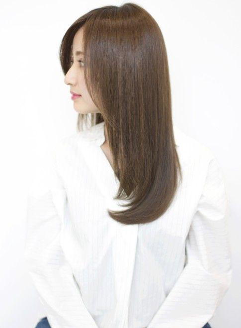 セミロング とろみワンカールストレート Afloat Japanの髪型 ヘアスタイル ヘアカタログ 2019春夏 美人 ヘア ヘアスタイリング ストレート ヘアスタイル