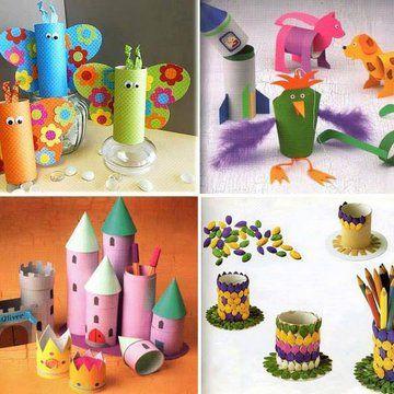 Zabawki z papierowych rolek - Kobieceinspiracje.pl: