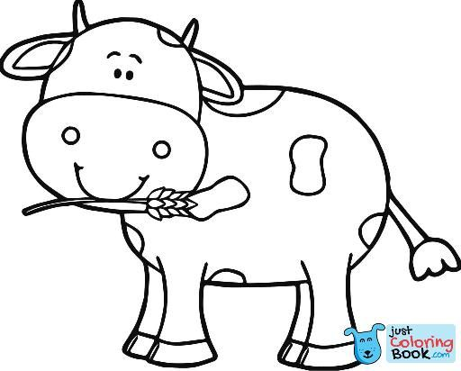Gigantic Pictures Of Cows To Color Printable Coloring Pages Inside