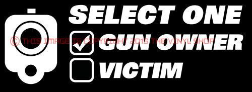 Gun Owner Or Victim FOR Gun Enthusiast Decal Sticker - Custom gun barrel stickersgun decals shotgun barrel sticker shooting ammo decal