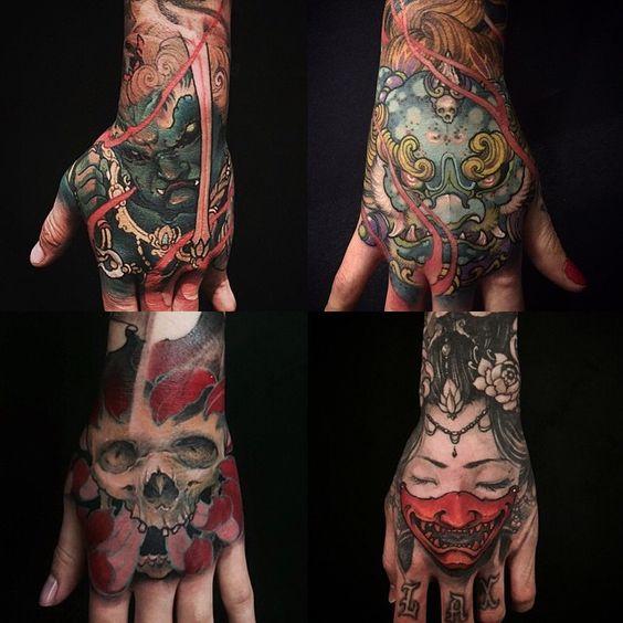 Hand tattoos done by freehand @chronicink #wearproud #workproud #handtattoo