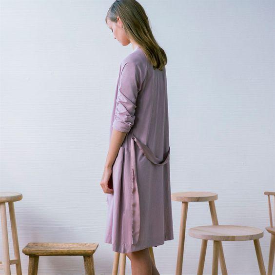 Morgenmantel mit Satin-Finish - Morgenmäntel - Women\'s Homewear ...