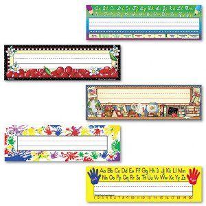 Teacher Created Resources Jumbo Nameplates, 3 1/2 x 11 1/2, Assorted, 216 per Pack