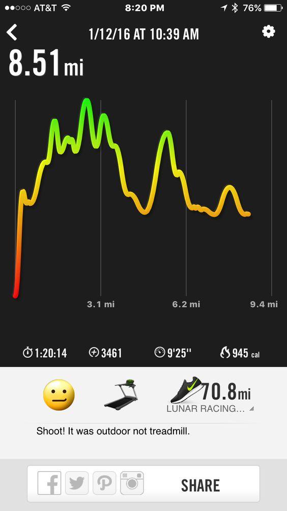 Outdoor run.....not treadmill!