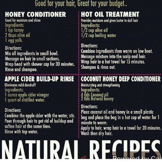Natural recipes for Hair