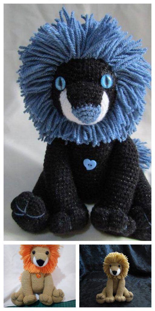 10 Free Crochet Lion Amigurumi Patterns | Crochet lion, Amigurumi ... | 1024x512