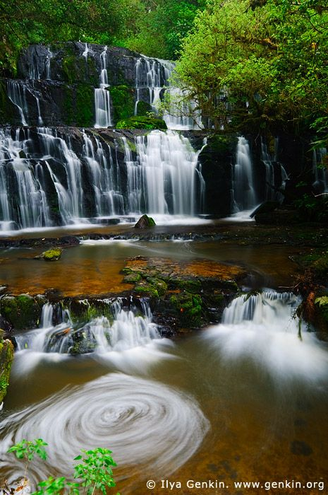 Purakaunui Falls, The Catlins, South Island, New Zealand. There have been many…