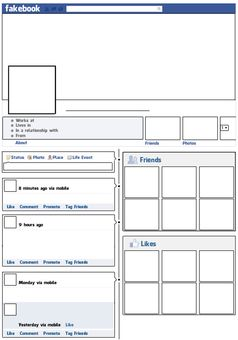 facebook lesson plan template 10 teacher freebies including this free fakebook