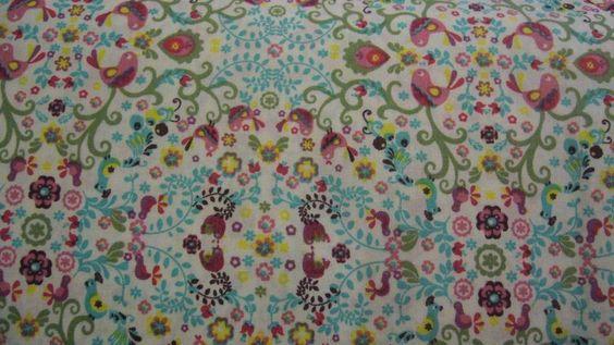 ♥Vögel & Blumen /Mandalaart♥  Baumwolle von ஐღKreawusel-aufgehübscht✂ஐ  auf DaWanda.com