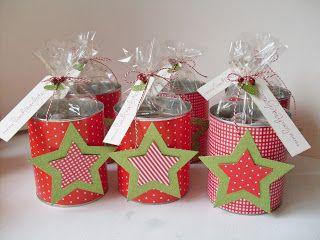 20 idee di decorazioni natalizie con il riciclo di barattoli di latta. Black Bedroom Furniture Sets. Home Design Ideas