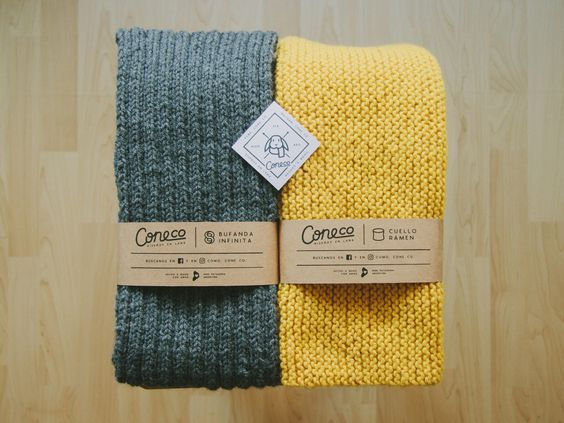 Branding for small business of handmade scarfs by Carla Corrales.