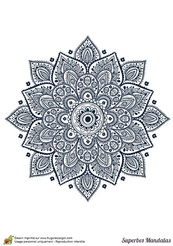 Coloriage d un superbe mandala en forme de fleur g om trique coloring - Coloriage fleur geometrique ...
