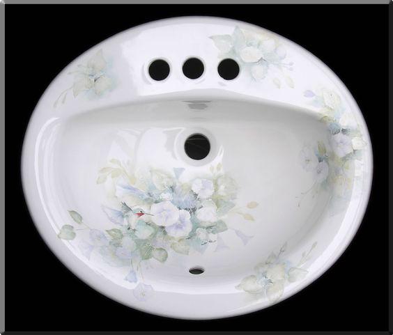 Hand Painted Bathroom Sinks Bathroom Pinterest Bathroom Painted Bathrooms And Bathroom Sinks