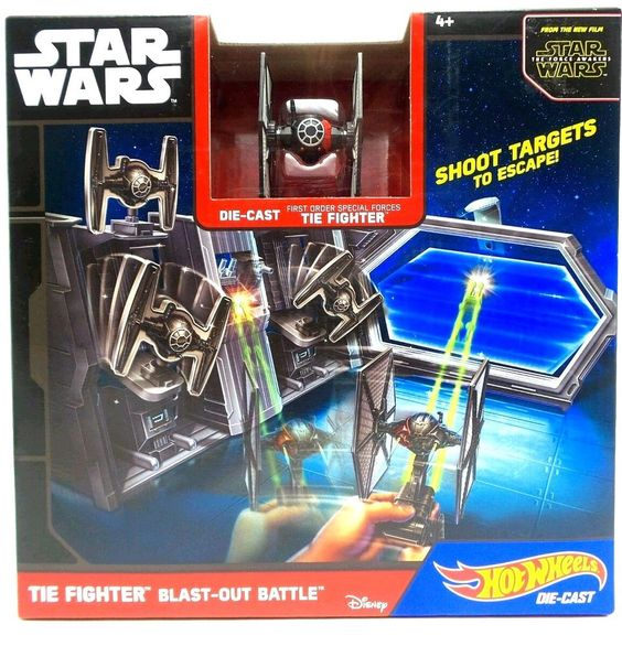 Star Wars The Fighter Blast Out Battle Play Set Die-cast Disney Hot Wheels New #HotWheelsDisney