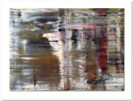"""Gerhard Richter:""""Abstraktes Bild"""", hochwertiger Offsetdruck nach dem gleichnamigen Ölgemälde von 1990, Werkverzeichnis: 726. Bildformat: 55 x 76,8 cm, Blattformat: 75 x 100 cm."""
