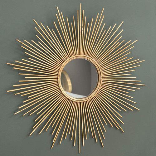 House Wishlist - Living Room, MAGELLAN metal mirror in gold H 99cm, maisonsdumonde.com, 139.90£