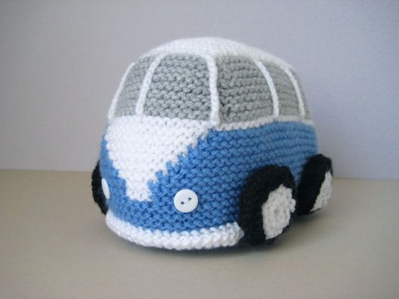 Vw Campervan Knitting Pattern : Toys, Knitting patterns and Knitting on Pinterest