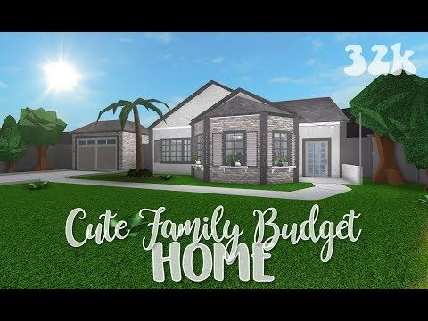 Roblox Bloxburg Cute Family Budget Home In 2020 With Images