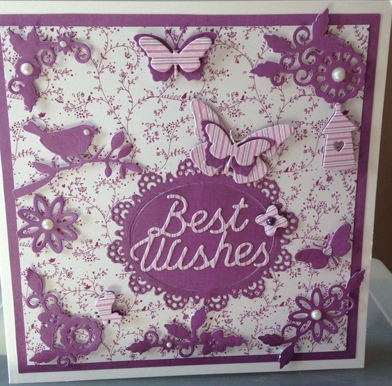 Purple handmade card