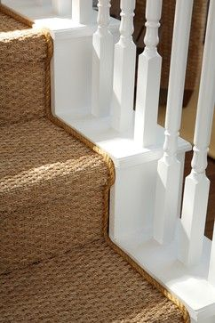Seagrass carpet, hard wearing for the country life.                                                                                                                                                      More