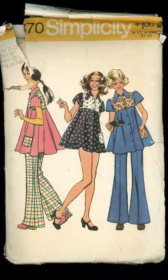 Simplicity 5370 Vintage 1970s Sewing by ThreadandBrushStudio