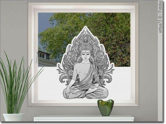 Bedruckte Milchglasfolie Buddha Fensterfolie Sichtschutzfolie Folie
