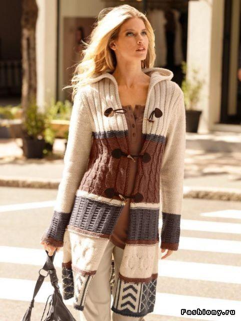 Вязанное пальто / как связать кардиган в стиле лало: