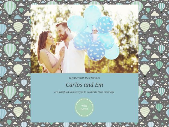 With over 300 themes to choose from, choosing an invitation that matches your wedding style is only a few clicks away. LittleKnot's Wedding Invitation - Light-speed sending | Easy RSVP | Photo Collage and so much more! #HappyPlanning